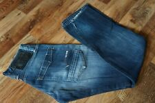 Men's G-STAR VICTOR STRAIGHT Button Fly Blue Jeans Size W27 L32