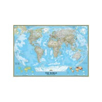 World Wall Map Large Poster Decor Non-woven Fabric P16