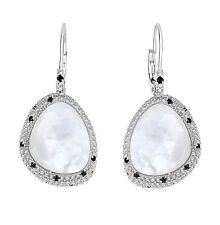 Phillip Gavriel 925 Sterling Silver Mother of Pearl Spinel Teardrop Earrings