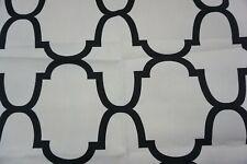 Windsor Smith Home Kravet Fabric Riad Indigo, Black Off White Linen Fabric, Sold