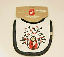 New listing Babyushka Boy's 100% Organic Cotton Bibs 2 Pack Ladybug & Baby Nwt