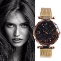 2019 Women Ladies Rhinestone Stainless Steel Wrist Watch Casual Quartz Watches