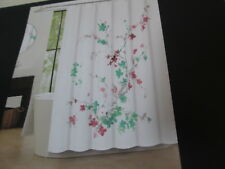 "Tahari Shower Curtain 72x72"" PRINTEMPS 2 Floral ~ Pink, Teal, Grey, Green Flower"