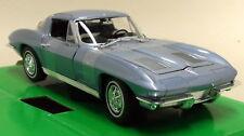 Nex 1/24-27 Scale 1963 Chevrolet Corvette C2 Coupe Blue Diecast Model Car