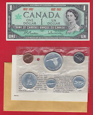 1967 Original Packaging Canada RCM Proof Like Mint Set PL With 1867 1967 UNC $1