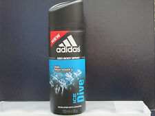 Adidas Ice Dive Deodorant Body Spray 24H Fresh Power 5 oz For Men