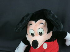 BIG DISNEY STORE MICKEY MOUSE PLASTIC EYES RED SHORTS VACATION PLUSH STUFFED TOY