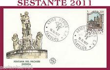 ITALIA FDC FILAGRANO 1977 FONTANA DEI PACASSI GORIZIA  ANNULLO ROVIGO G771