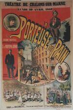"""""""LA PORTEUSE DE PAIN"""" Affiche originale entoilée Litho F. APPEL 1889  85x124cm"""