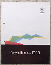 FORD CONVERTIBLES Car Sales Brochure 1960 #N1357/1059 CONSUL Zephyr ZODIAC