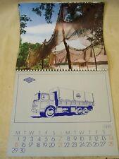 Antiguo Calendario de 1974 Coche antiguo Vehículo de servicio, Moguert, IKARUS
