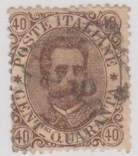 (IT30) 1889 Italy 40c Brown King Umberto ow39