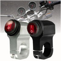 "7/8"" LED Motorcycle Handlebar Headlight Fog Spot light Hazard Horn On Off Switch"