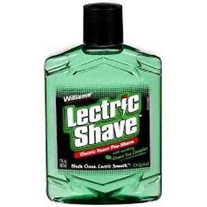 Williams Lectric Shave Electric Razor Pre-Shave, Regular - 7 Oz (3 Pack)