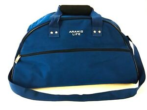 Aramis Life Blue Canvas Duffel Bag Carry On Travel Luggage