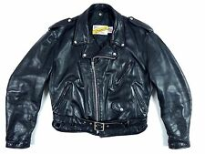 SCHOTT PERFECTO 118J Vintage Leather Jacket L XL Black Genuine Special Edition