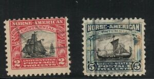 US Scott #620-1  USED F/VF Norse set. sharp, clean, great! 2