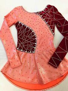 Mondor Ice Figure Skating Dress Customized Crystallization Adult Sm/girl 12-14yr