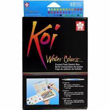 Sakura Koi Watercolor - Pocket Field Sketch Box - 48 Half Pan Transparent Colors