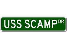 USS SCAMP SSN 588 Street Sign - Navy