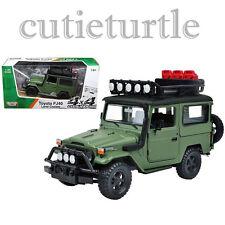 Motormax Toyota FJ 40 Land Cruiser 4x4 Off Road 1:24 Diecast 79137 Matt Green
