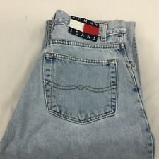Vtg Tommy Hilfiger Big Flag Jeans Sz 29 x 32 Distressed Spell Out Faded 80s USA
