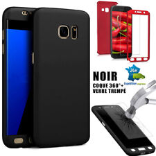 Coque tel Galaxy housse intégrale samsung S7/edge/S8/S9/S10/+/plus/noir/rouge