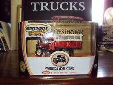 MATCHBOX FODEN STEAM WAGON 50TH ANNIVERSAIRE Ltd Ed + VINTAGE CLASSIC camion Livre