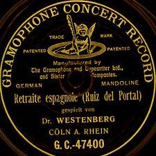 """DR. WESTENBERG -MANDOLINE- aus """"Cöln"""" am Rhein; Retraite espagnol  G&T   S9391"""