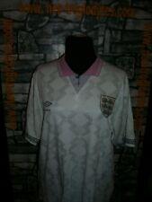 Vintage England Umbro football soccer jersey shirt trikot maillot W C 1986