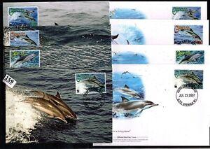 /// GRENADA 2007 - 4 FDC+MC - WWF - FISH - DOLPHINS