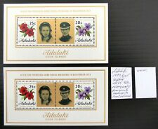 More details for aitutaki 1973 royal wedding m/sheet with missing coat of arms see below cs490
