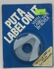 Vintage Rotex Label Tape 14 X 144 White Ai