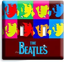 THE BEATLES POP ART JOHN GEORGE PAUL RINGO DOUBLE LIGHT SWITCH COVER ROOM DECOR
