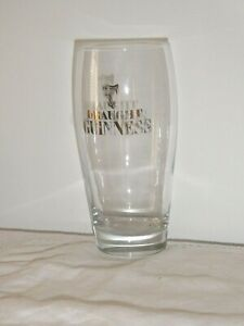 1 Draught Guinness Sturdy Hotel Quality Glass Gold Lyre Label 500ml Or 1 Pint