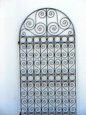 FRENCH STYLE pedestrian SIDE GATE   WROUGHT IRON  BLACK  1800mmx 960mm new