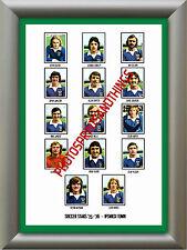 Ipswich Town - 1975-76 - Repro pegatinas A3 cartel impresión