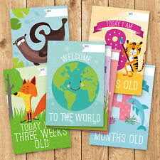 30x Baby Milestone Cards ~ 1st Year Memorable Moments Boy Girl or Unisex