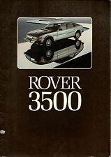 Depliant brochure catalogue ROVER 3500 VANDEN PLAS francais