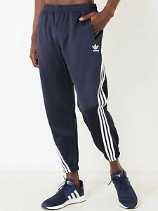 adidas Originals Men's Nova Wrap Around Joggers Navy Track Pants Trousers Large