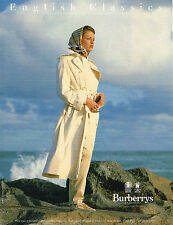 PUBLICITE ADVERTISING 094  1993  BURBERRYS OF LONDON  imperméble trench-coat
