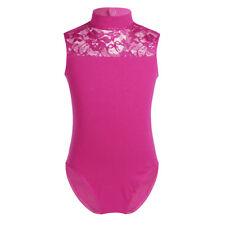 UK Kid Girls Ballet Dance Tutu Dress Gymnastics Leotard Skirt Lace Dance Costume