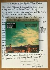 Noel Gallagher's High Flying Birds Who Built The Moon Deluxe Package Lyric Sheet