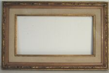 VINTAGE HAND CARVED WOOD FRAME WITH LINER FOR PAINTING 24 X 12 INCH