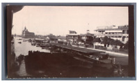 Egypte, Port Said (بورسعيد), Harbour  Vintage citrate print.  Tirage citrate
