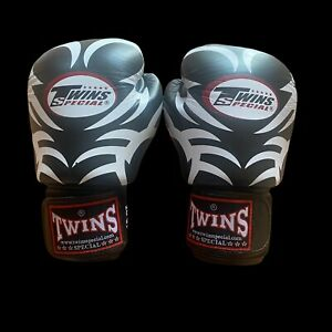 Twins Gloves Special Boxing, Muay Thai, Kickboxing, MMA Black And White 16oz