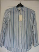 LINEA WEEKEND WILLOW BLUE BEIGE IVORY STRIPED SHIRT. UK 8, EUR 34, US 4. NWT £45