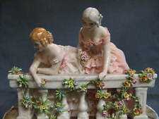 Porcelain Capodimonte of Northern Ca. f., Dame To Balcony