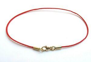 red string bracelet kabbalah 14 k solid gold original luck protection bangle new