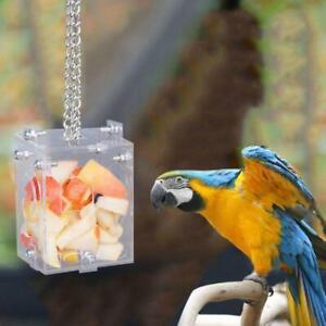 Parrot Creative Foraging Toys Feeder Bird Intelligence Training Cage Acrylic Box